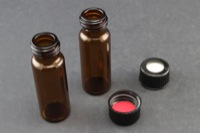 Vial Kit: Amber Glass, 4ml Screw Top Vial; Screw Cap, 13mm Black Polypropylene w/ PTFE/Silicone Septa