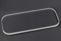 "Glass Front, Borosilicate Glass -  0.250"" Thick x 6.65"" L x 2.91"" W"