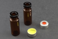 Ultra Vial Kit: 2 mL Crimp Top Standard Opening Amber Glass w/ Caps & Pre-Inserted Ultra GC/MS/PTFE Septa