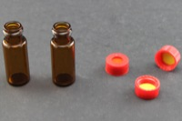 Ultra Vial Kit: 2 mL Screw Top Wide Opening Amber Glass Vials w/ 9 mm Caps & Pre-Inserted Ultra GC/MS/PTFE Septa