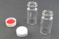 Vial Kit: 10 mL CP-8410 Sample Vials w/ 20 mm Snap Tops & Septa  (23mm OD x 46mm Height)
