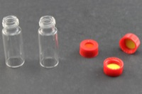 Ultra Vial Kit: 2 mL Screw Top Wide Opening Clear Glass Vials w/ 9 mm Caps & Pre-Inserted Ultra GC/MS/PTFE Septa