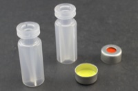 Ultra Vial Kit: 100μL Crimp Top Polypropylene Vials w/ Caps & Pre-Inserted Ultra GC/MS/PTFE Septa