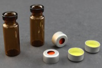 Ultra Vial Kit: 2 mL Crimp Top Wide Opening Amber Glass w/ Caps & Pre-Inserted Ultra GC/MS/PTFE Septa