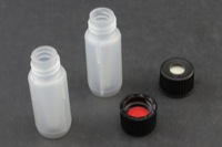 Vial Kit: 100µl Polypropylene Screw Top Vials, 8mm Black Cap w/ Red PTFE/Silicone
